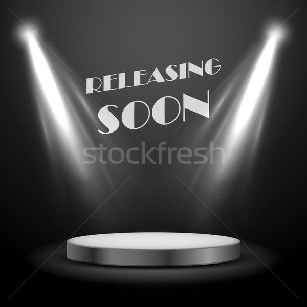 Realistisch plek licht effect spoedig poster Stockfoto © vectomart