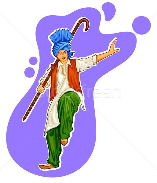 Sikh dançar férias como ilustração fundo Foto stock © vectomart