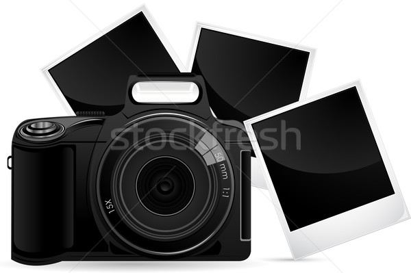 Camera with Photograph Stock photo © vectomart