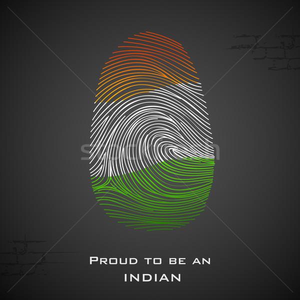 Büszke indiai illusztráció szín mutat terv Stock fotó © vectomart
