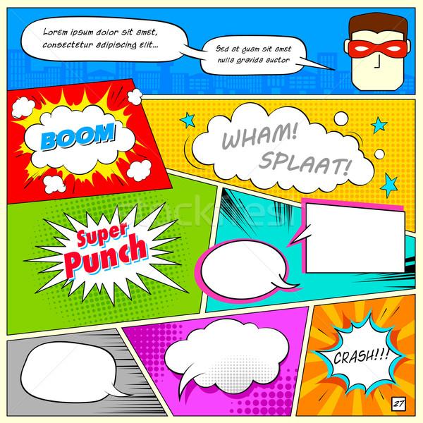 Comic Speech Bubble Stock photo © vectomart