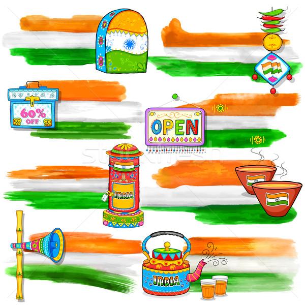 Stock fotó: India · szalag · vásár · promóció · illusztráció · giccs