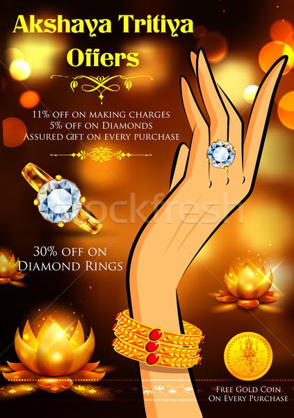 Celebrazione vendita promozione illustrazione gioielli felice Foto d'archivio © vectomart