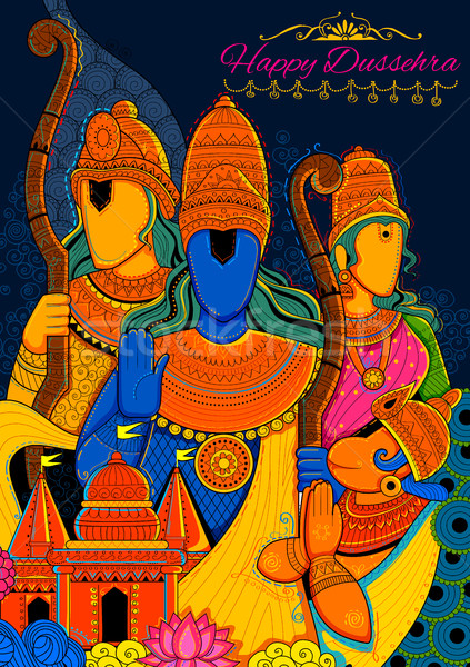Widder Festival Indien Plakat Illustration Hintergrund Stock foto © vectomart
