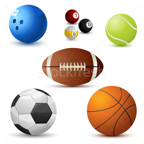 Sport balle illustration blanche football Photo stock © vectomart