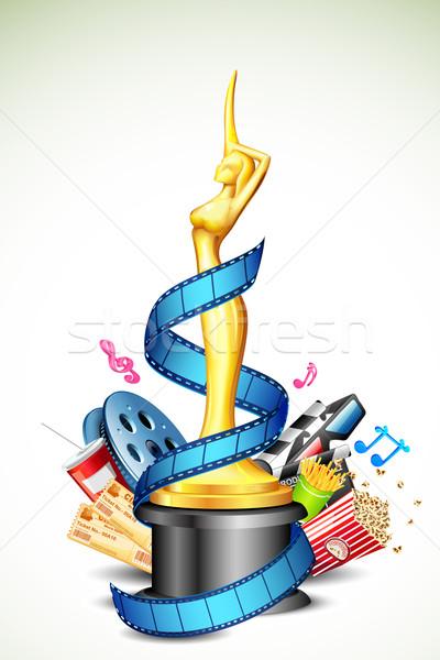 Cinema premio illustrazione film stripe altro Foto d'archivio © vectomart