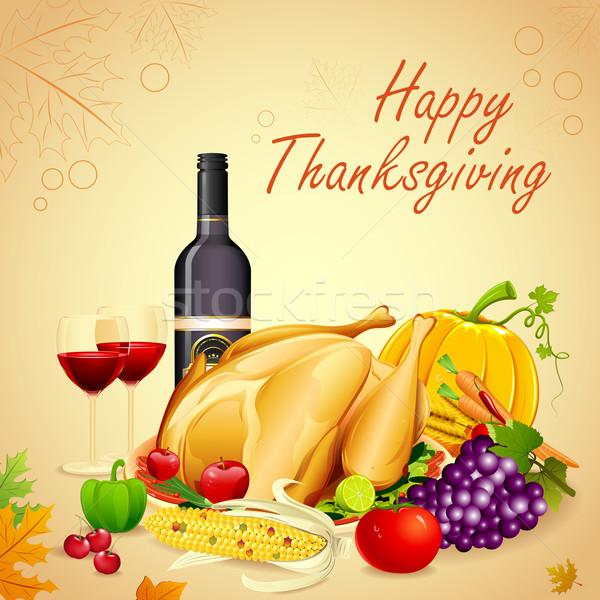 Thanksgiving Dinner Stock photo © vectomart