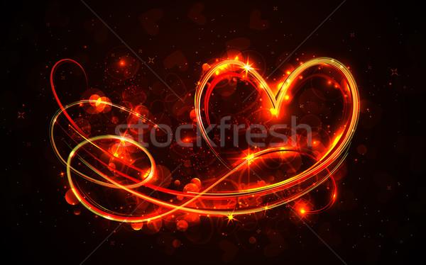 Swirly Heart Stock photo © vectomart