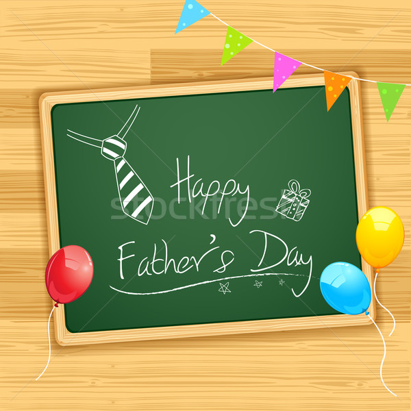 Happy Father's Day message on Board Stock photo © vectomart