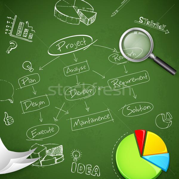 Business illustrazione progetto diagramma di flusso diagramma carta Foto d'archivio © vectomart