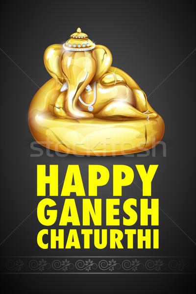 Lord Ganesha made of gold for Ganesh Chaturthi Stock photo © vectomart