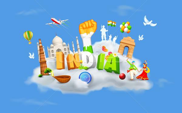 India on Cloud Stock photo © vectomart