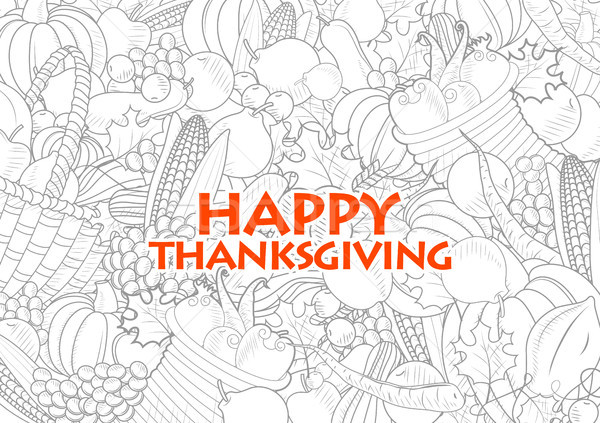 Happy Thanksgiving holiday festival background Stock photo © vectomart