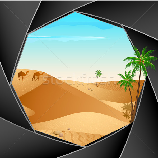 Foto stock: Deserto · cena · câmera · ilustração · persiana · tecnologia