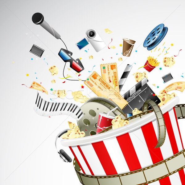 Bucket full of Entertainment Stock photo © vectomart