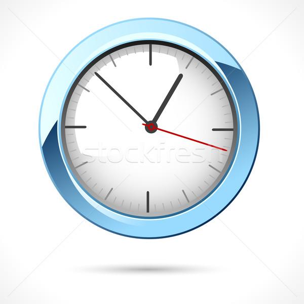 Glossy Clock Stock photo © vectomart