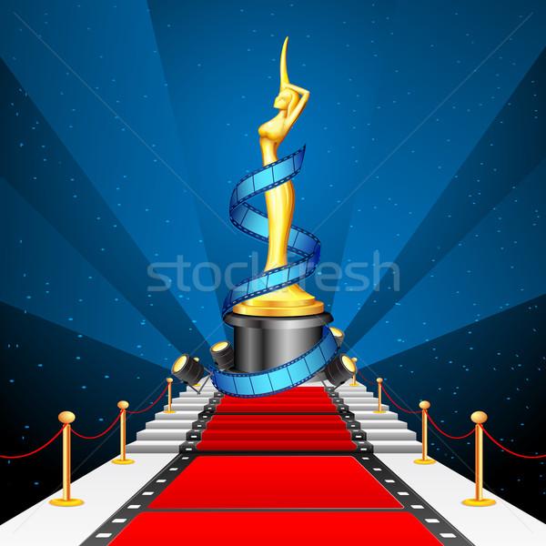 Cinema acordare Red Carpet ilustrare pelicula Imagine de stoc © vectomart