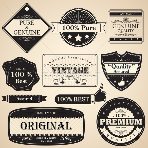 Vintage Premium Quality Label Stock photo © vectomart