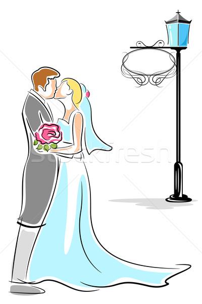 Kissing Couple Stock photo © vectomart