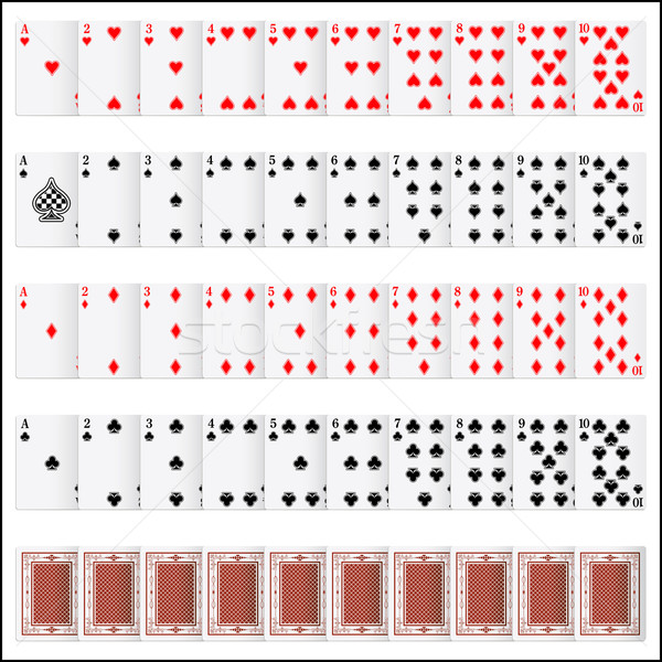 Complete set of Playing Card Stock photo © vectomart