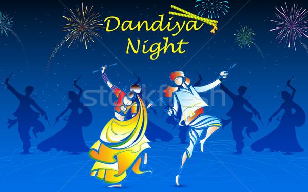 People playing Dandiya Stock photo © vectomart