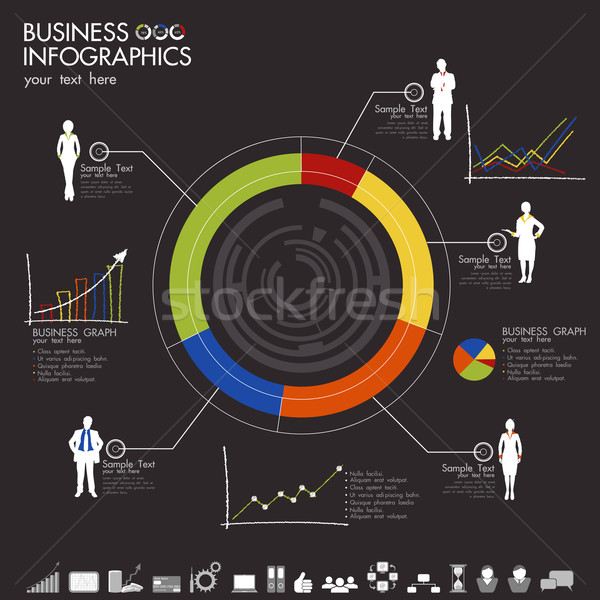 Business Infographic Stock photo © vectomart