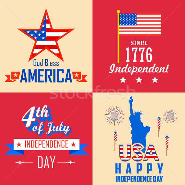 4th of July background Stock photo © vectomart