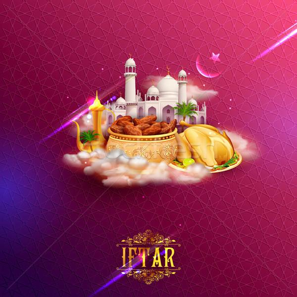 Tebrik cami İslamiyet dini festival Stok fotoğraf © vectomart