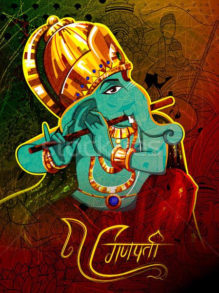 Illustrazione messaggio dio statua indian Asia Foto d'archivio © vectomart