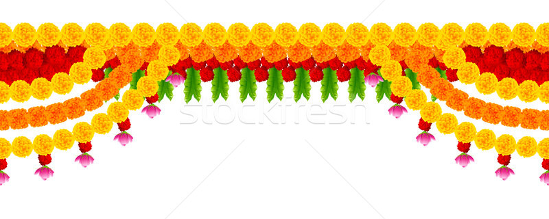 Flower garland decoration toran for Happy Diwali Holiday background Stock photo © vectomart