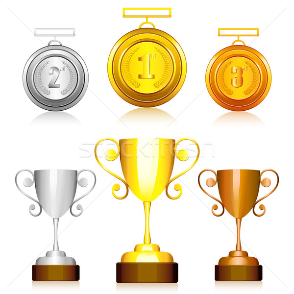 Medal and Trophy Stock photo © vectomart