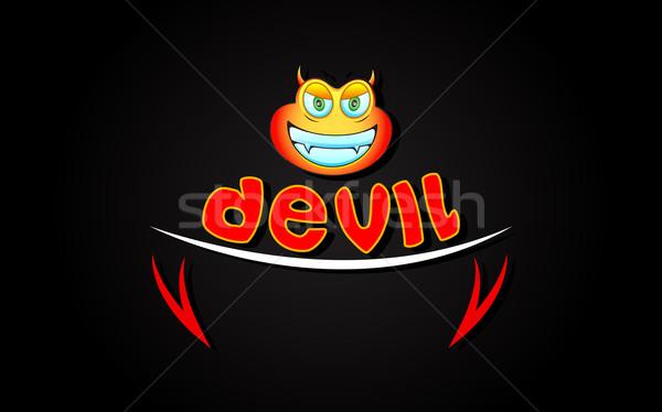 悪魔 実例 リップ 歯 スマイリー 顔 ストックフォト © vectomart