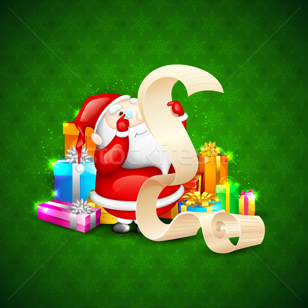 Santa with Christmas Gift Stock photo © vectomart