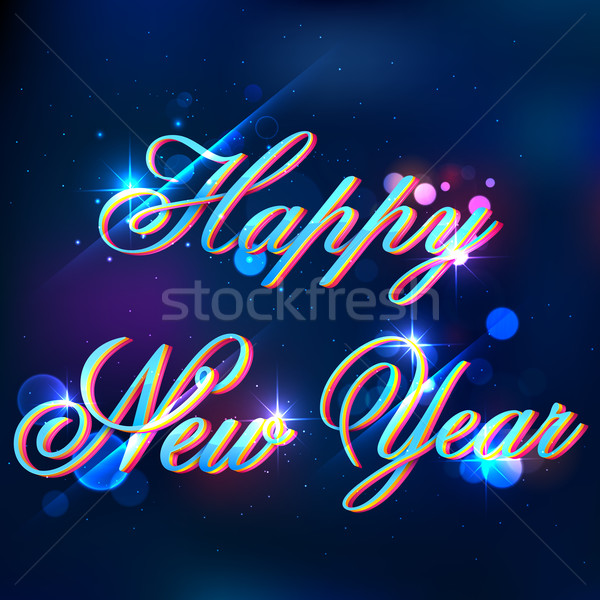 Foto stock: Feliz · ano · novo · ilustração · fundo · celebração · novo · conceito