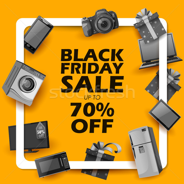 Black friday vente Shopping proposer promotion joyeux Photo stock © vectomart