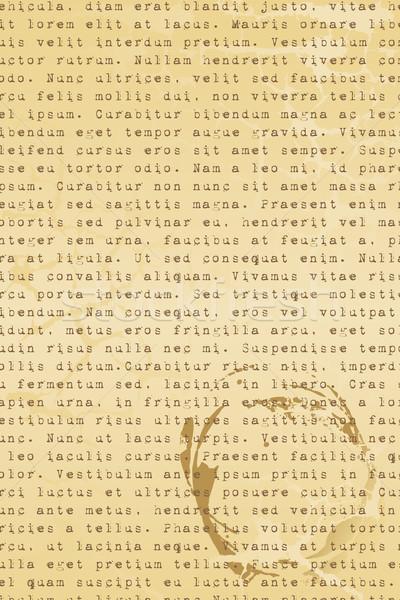 Old Letter Stock photo © vectomart