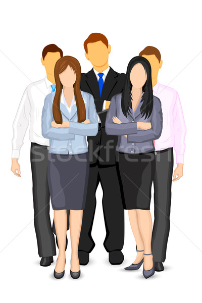 Gens d'affaires illustration homme d'affaires femme affaires bureau Photo stock © vectomart
