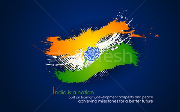 Индия триколор иллюстрация группы индийской Сток-фото © vectomart