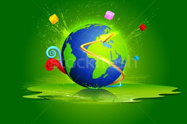 Dünya soyut örnek renkli su Stok fotoğraf © vectomart