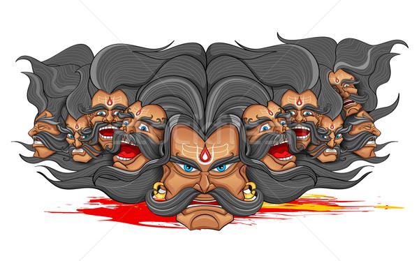 On kafa duvar kağıdı kılıç Hint şeytan Stok fotoğraf © vectomart