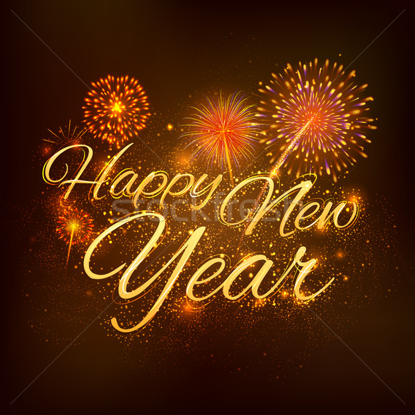 new year celebration abstract starburst seasons greetings background with firework add to lightbox download comp