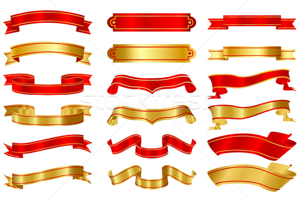 Set of Ribbons Stock photo © vectomart