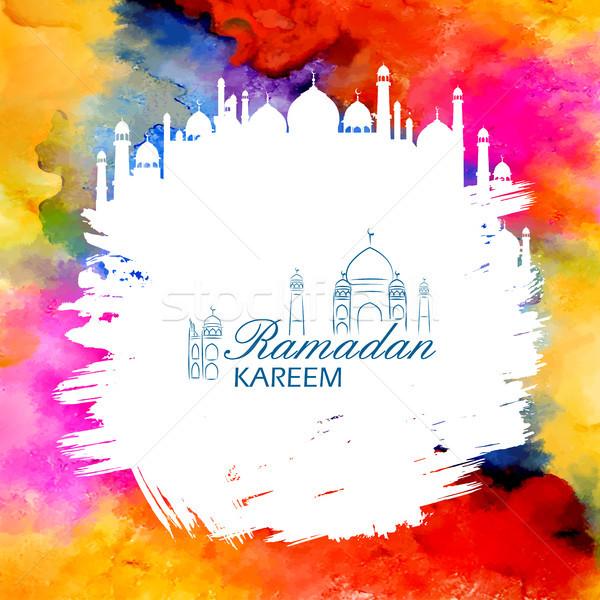 Ramadan genereus arabisch moskee illustratie Stockfoto © vectomart