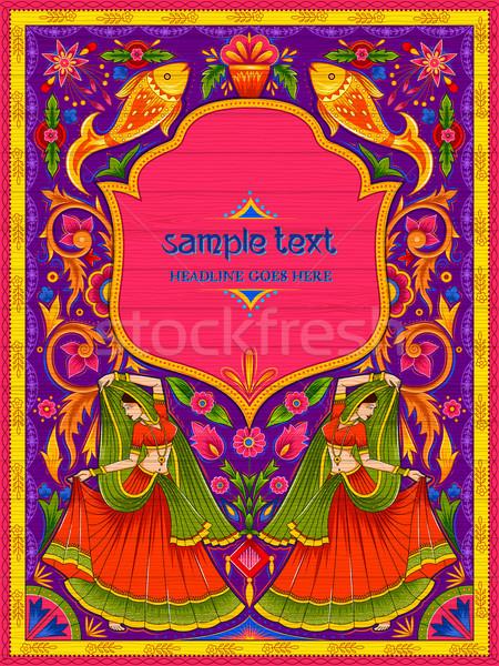 Photo stock: Coloré · Bienvenue · bannière · camion · art