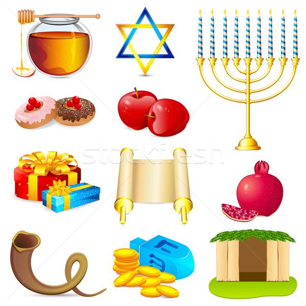 Element illustratie ingesteld voedsel licht ontwerp Stockfoto © vectomart