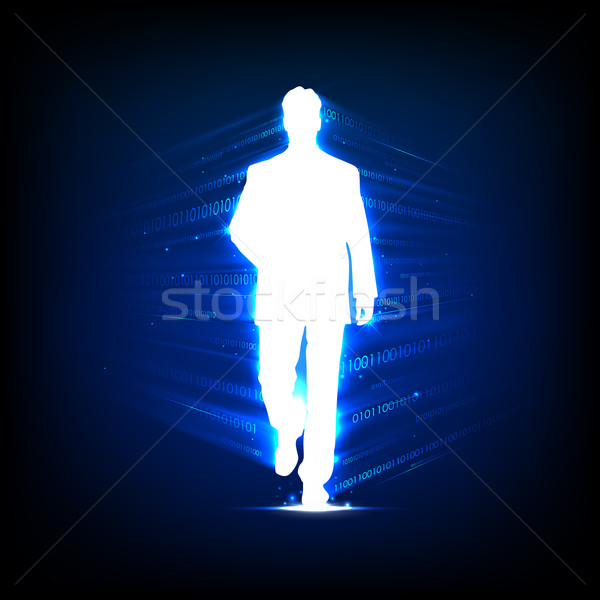 Business People on Technology background Stock photo © vectomart