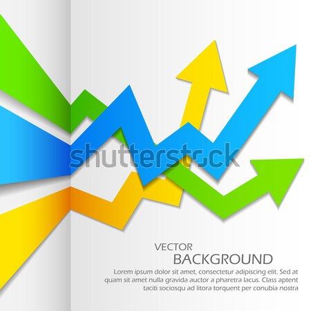 Infographics Upward Arrow Stock photo © vectomart