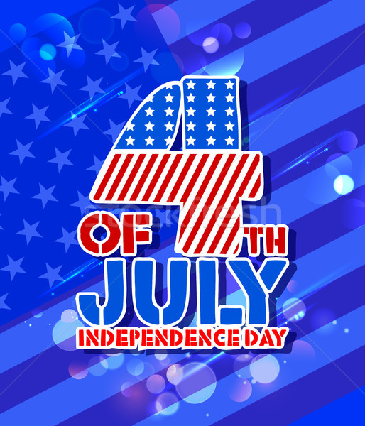 Negyedik boldog nap Amerika illusztráció amerikai zászló Stock fotó © vectomart