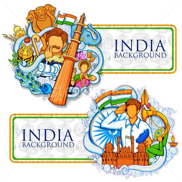 インド 信じられない 文化 多様 8月 ストックフォト © vectomart