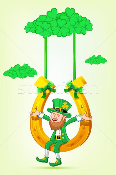 Sesión herradura swing ilustración trébol Foto stock © vectomart